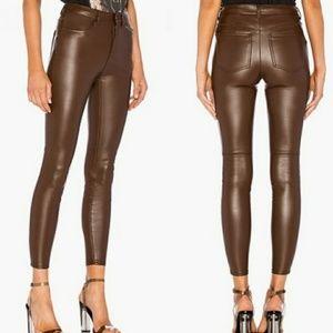 Free People Vegan Leather High Rise Leggings